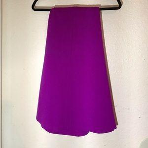 Purple Circle Skirt W/Pockets